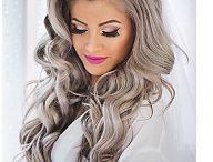 gray beige hair
