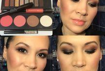 Makeup avec la palette Monarch de Kat Von D / Coucou les Beautés MU du jour avec la sublime palette Monarch de Kat Von D, palette Blush LA Girl Glow et Artist Plexi Gloss nº302P.  Belle journée