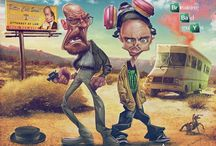 ANTHONY GEOFFROY : BREAKING BAD // Funny caricatures of Breaking Bad' most notable characters