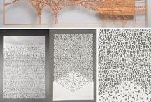 Paper cut calligraphy