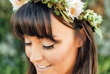 Flower Crowns / Flowers represent celebration, while crowns usually symbolize honor, so combining flowers and crowns is almost as natural as breathing. In weddings, brides have worn flower crowns since ancient times.