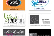 Business cards & Logos - done by KDS / Business cards & Logos we designed and printed for various clients