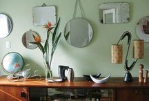 Mirrors turn the ordinary into EXTRAordinary! / Upcycling is all the rage, and for good reason.  Why go out and buy something brand new that is already one of thousands just like it?  Wouldn't you rather have something truly unique? Vintage Mirrors...