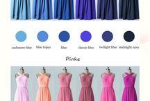 cores vestidos