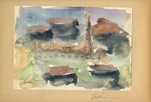 Γιώργος Μπουζιάνης (ακουαρέλες υδατογραφίες George Bouzianis watercolors) / η υγρη περιοδος 1929 έως το 1932 αυτες οι υδατογραφίες είναι αληθινά αριστουργήματα!    η υγρη περιοδος   Στην περίοδο από το 1929 έως το 1932 τον βρίσκουμε στο Παρίσι. Ο ίδιος χαρακτήρισε τα χρόνια αυτά ως «Υγρή περίοδο».
