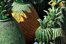 Green pineapple pottery