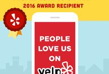 "People Love Us On Yelp / 2016 recipient of the coveted ""People Love Us On Yelp"" award!"