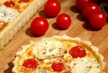 Quiches et pizza