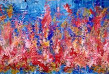 Large Scale Abstract Paintings