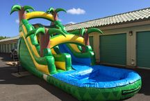 16ft Tropical Water Slide / Our Brand New 16ft Tropical Water slide.  Find out more by visiting our website here http://www.hijumprentals.com/16ft-tropical-water-slide/