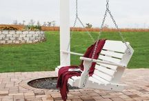 Amish Porch Swings / Kick back and relax on one of our Amish Made Porch Swings.  Handcrafted in the United States by highly skilled Amish Woodworkers, these swings are built to last a lifetime and look beautiful in the process.  Available in many different wood or poly lumber options, we are sure to have a porch swing that is perfect for your outdoor decor.