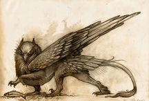 Animali maggici tipo draghi, grifoni e Claudio Lippi