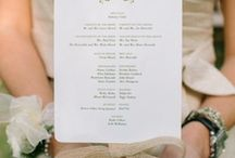 Order of Service - Ideas & Inspiration / Fancy a unique take on the Order of Service? Have a look at this wonderful inspiration which will have your guests talking.