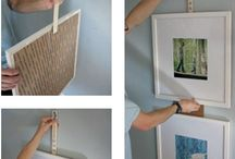 Hanging paintings