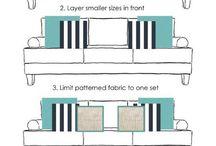 How to arrange cushions