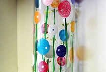 painted colorful vase