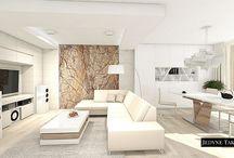 White apartment / Białe wnętrza apartamentu w Krakowie / White apartment with rainforest stone as a focal point / Białe wnętrza nowoczesnego apartamentu w Krakowie. Projekt wnętrz JedyneTakieWnętrza