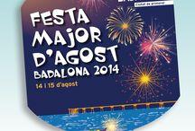 Ventalls  de la Festa Major d'Agost de Badalona / Els dies 14 i 15 d'agost, Badalona es vesteix de festa per celebrar la Festa Major d'Agost, en honor de la Mare de Déu d'Agost, patrona de la ciutat.
