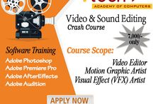 Audio and video editing course in delhi / Become a qualified Video & Audio editor from Vtech Academy of Computers & get placement in TV production houses.
