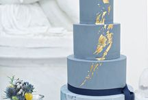 Marble effect cakes