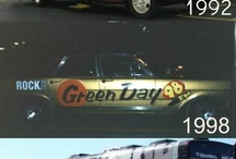Green Day tour buses