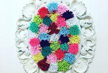Rengarenk çiçeklerim / Keçeden harika bir tablo