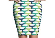 Pencil / Show off those gorgeous legs by wearing pencil skirts designs by squeakychimp.com