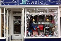 Mosaic- Leek / Retailer of gifts in Leek Staffordshire, retailer of collectables, suppliers of glam bags, huge selection of costume jewellery, ethnic art and sculpture. www.onestopweddingshopstaffordshire.co.uk