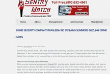 Home Security Company in Raleigh NC Explains Summer's Sizzling Crime Rates / Increasing your home security Raleigh NC should actually start with your landscape.