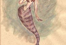 Mermaids, Mermen and Seahorses / by Loulou Flecknoe