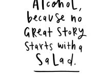 Alcohol typography quotes