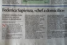 """Media / Le mie partecipazioni al programma Tv """"Fabio di Sera"""", gli articoli su di me, le mie ricette pubblicate sui siti di settore"""