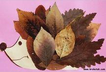 Collage con le foglie
