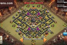 Clash of Clans / This board is filled with lots of bases from Clash of Clans.