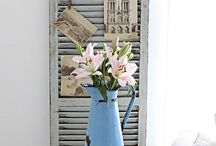Shutter Decor / Upcycling with all my shutters. What a great find they were.