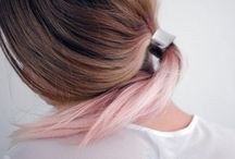 pink/ombre hair