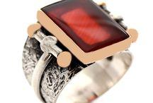 akik taşlı erkek yüzüğü