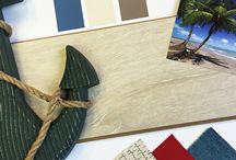 Design Boards / Mixing paints, fabrics and accents to bring you specialty design boards with our flooring!
