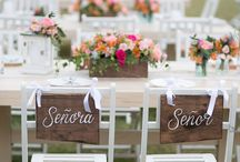 """Where the """"Sweetheart's"""" sit / How will you design the wedding chairs backs on your special day. Happily - Ever after, Mine & Yours, Keeper & Catcher, the options are endless!"""