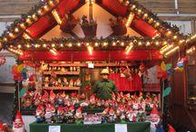 Christmas market theme / Images of Christmas / holiday time.