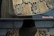 blusa de couro com croche