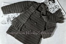 baby crochet patterns / vintage baby clothes to crochet