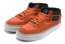 Vans Men & Women Half Cab Fontana Shoes Orange