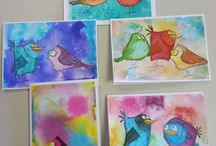 Brand TH: Bird Crazy stamp set / These are not my Pins.  They are projects created and shared by very talented artists using Tim Holtz Crazy Birds and Crazy Bird Things stamps sets.  They are here to inspire me.