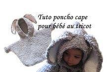 Model tricot poncho bebe