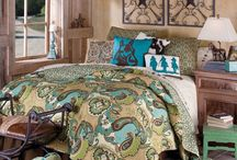 Urban Cowgirl Chic Decor / Western meets urban with home decor, bedding, quilts, and more for the home!