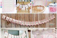 Ribbons and Pearls Baby Shower / Ribbons and Pearls Girl Baby Shower