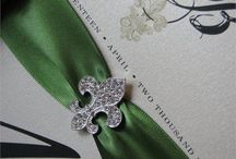 Invitations that Sparkle from The Buckle Boutique / Invites that we love with that little extra pop of sparkle.