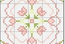 Pincushion/Biscornu Cross Stitch Chart / by Kathy Tagart