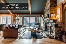 770 Ch. Old Notch, Sutton / Foyer au bois des plus chaleureux